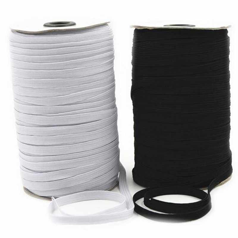 5m elastic band sewing black white 3/6/8/10/12/15/20/25/30/40mm high quality flat elastic bands for underware pajamas ties trim