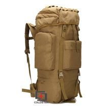 Tan Color 65L Large Capacity Mountaineering Bag High quality Outdoor Backpack Waterproof Travel Hiking Camping Tactical Bag