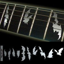 Fretboard Markers Inlay Sticker Decals for Guitar & Bass – Bat Wing – Metallic