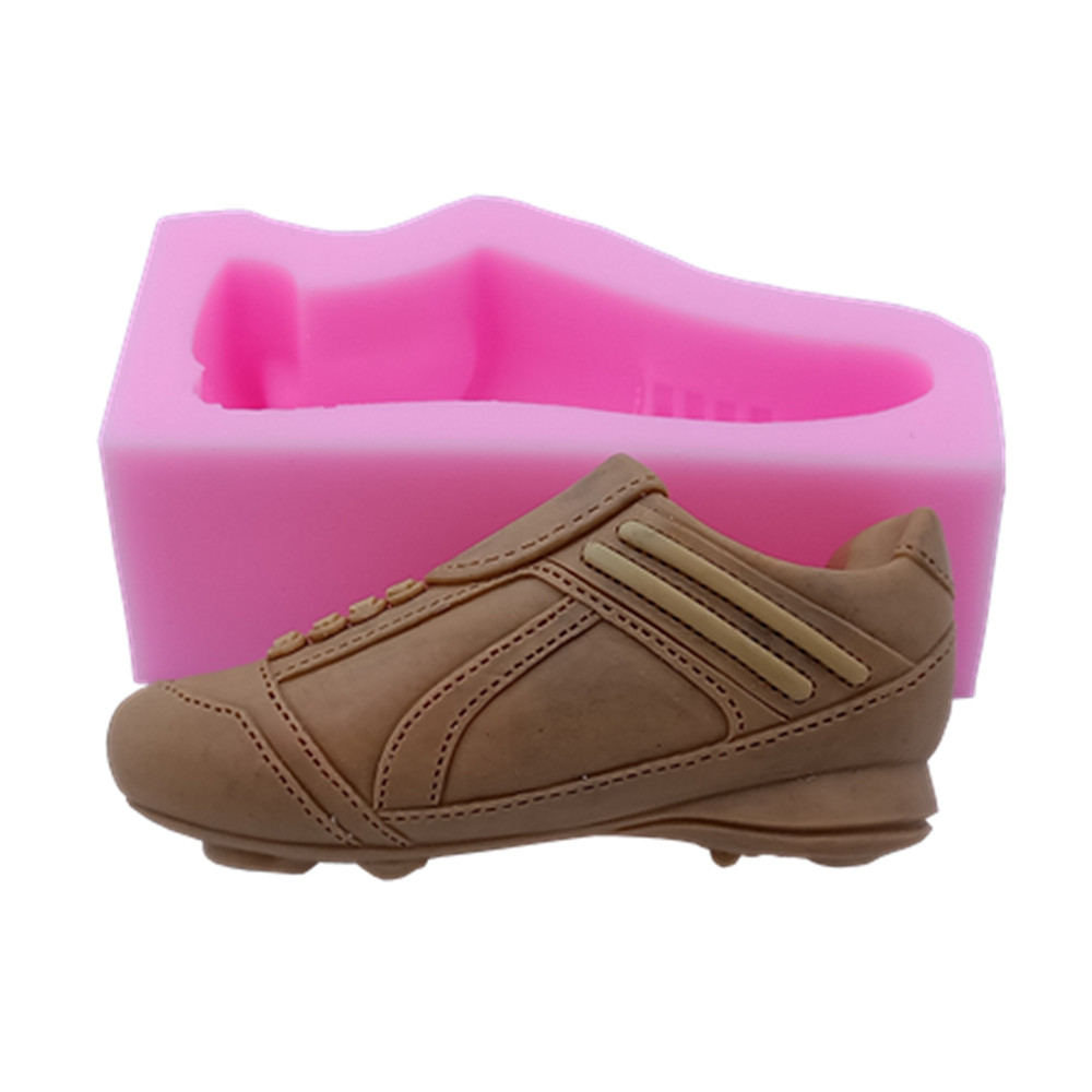 Football Shoe Design Silicone Soap Mold Silicone Molds For Soap Aroma Gypsum Resin Crafts Making