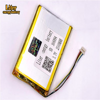 plug 1.0 5P 366094 356095 2500mah 3.7V Li ion Polymer Battery Rechargeable For tablet pc 7 inch MP4 MP5|Tablet Batteries & Backup Power|   -