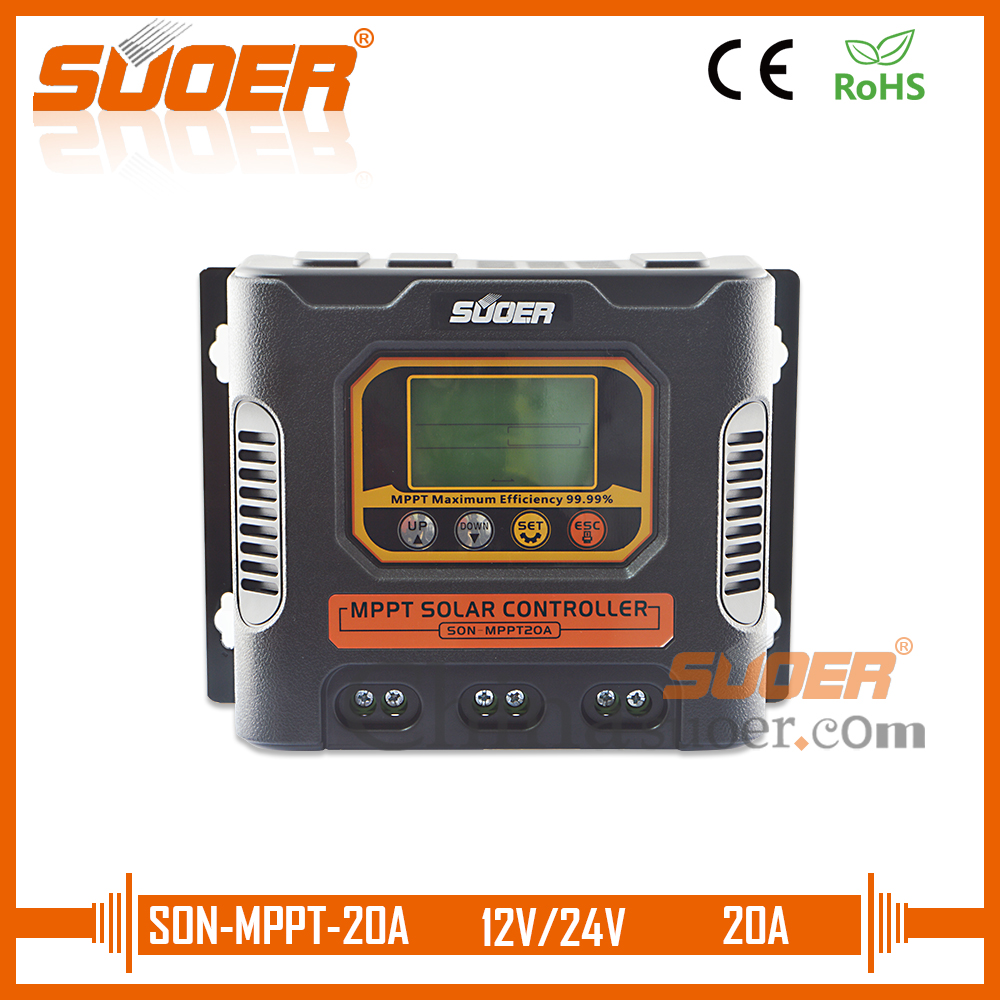 Suoer solar charge controller mppt controller 20A charge controller(SON-MPPT-20A)Suoer solar charge controller mppt controller 20A charge controller(SON-MPPT-20A)
