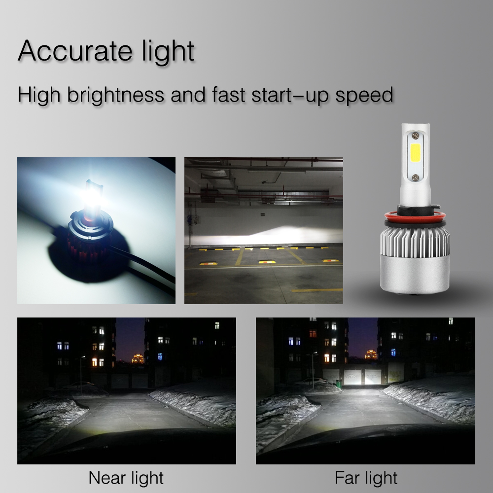 Image 2 - LSlight LED Headlight H7 H4 H1 H11 H3 9007 9004 H13 9005 9006 880 H27 HB2 HB3 HB4 LED Car Bulb 24V 60W 6000K 9600lm Auto Lamps-in Car Headlight Bulbs(LED) from Automobiles & Motorcycles