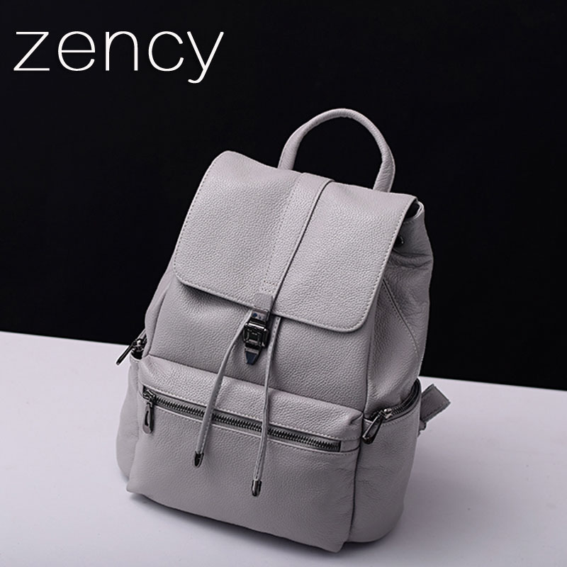 Fashion Genuine Leather Women Backpack First Layer Cow Leather Women s Backpacks Ladies Girl s School