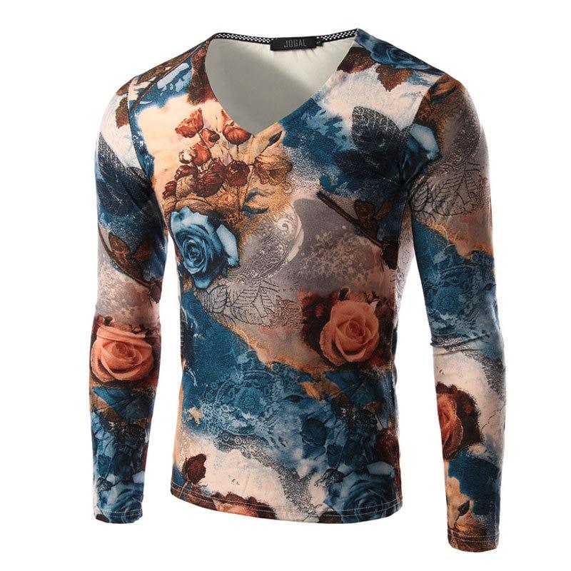 e9213ebb Cool Fashion Design Rose Printed 3D T shirt 2016 New Autumn Mens ...