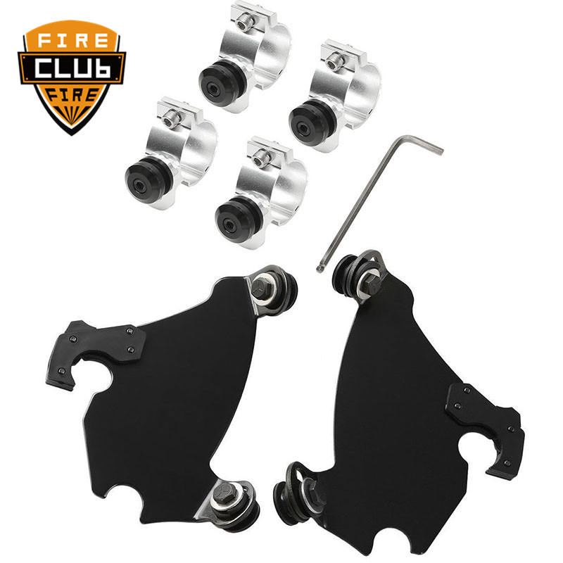 41/49mm Motorcycle Fork Bracket Fairing Black Trigger Lock Mount Kit For Harley Dyna D35 FXD FXDC Super Glide  Sportster xl  41/49mm Motorcycle Fork Bracket Fairing Black Trigger Lock Mount Kit For Harley Dyna D35 FXD FXDC Super Glide  Sportster xl