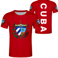 CUBA men youth diy free custom photo name number nation flag spanish country republic cu college boy casual t shirt clothes
