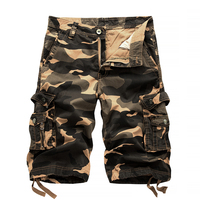 2018 Military Camo Cargo Shorts Summer Fashion Camouflage Multi-Pocket Homme Army Casual Shorts Bermudas Masculina 3