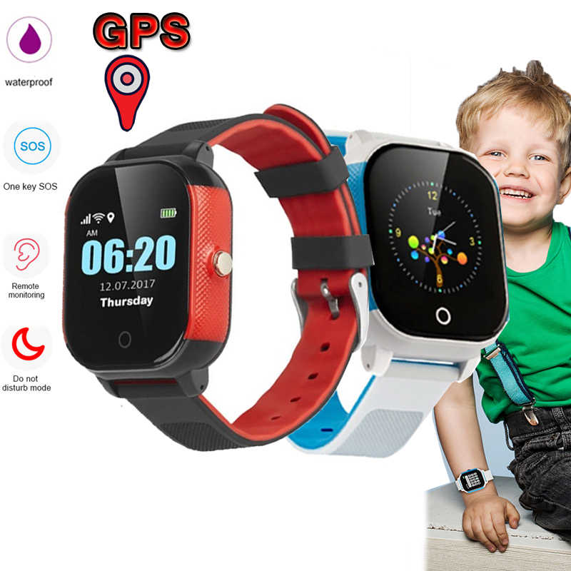 FA23 Smart Watch Antil-lost Kids Smartwatch IP67 Waterproof GPS LBS SOS Tracker Baby Wristwatch Remote Monitor Kids Smartwatch