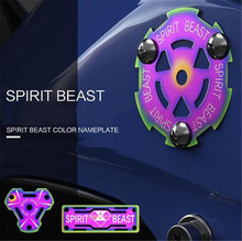 SPIRIT BEAST 1PC Motorcycle Accessories Personalized Products Color Stainless Steel Cover Car Styling Warning Sign Nameplate