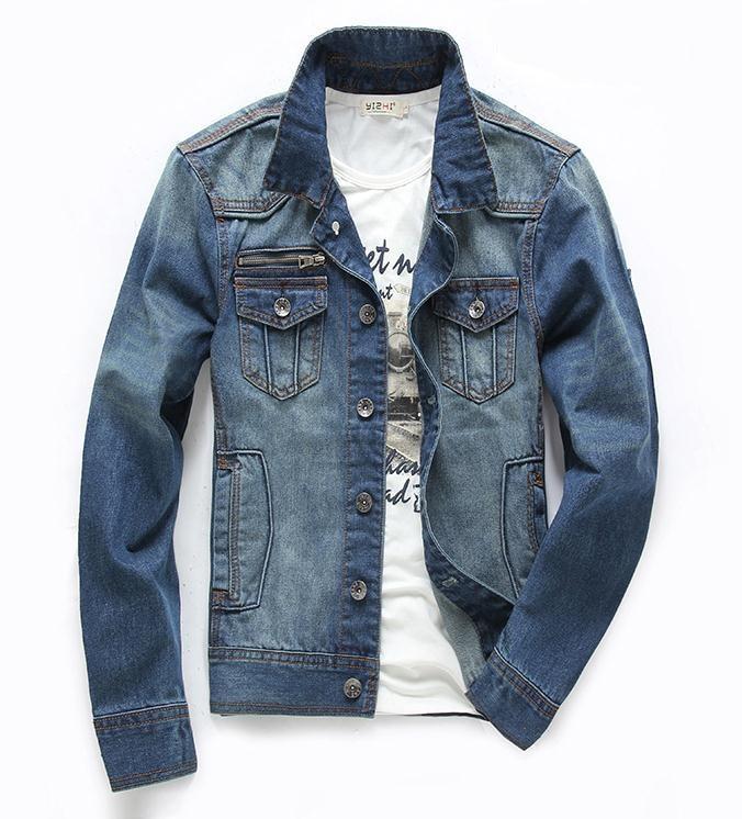 Aliexpress.com : Buy New Men&39s Denim Jackets Fashion 100% Cotton