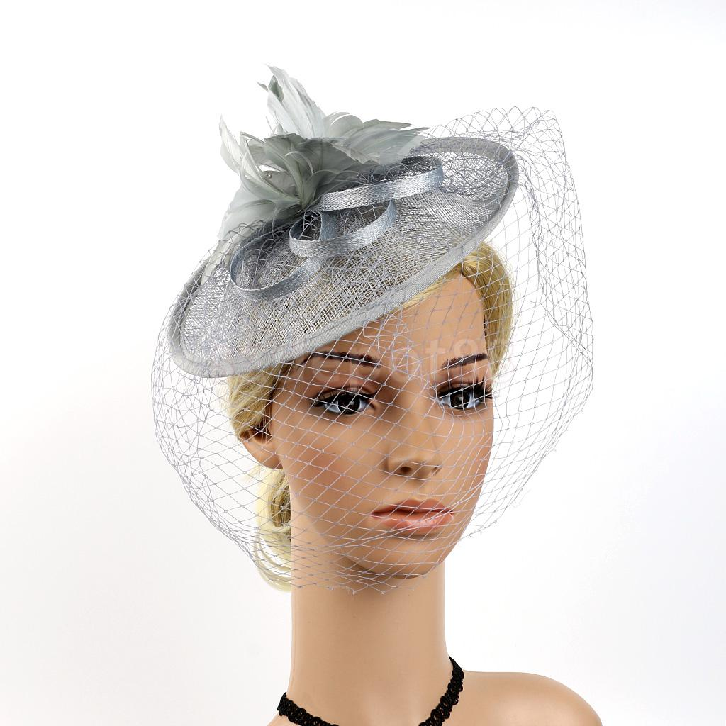 Vintage Feather Fascinator 1920s Great Gatsby Party Fascinator Woman Side Hat