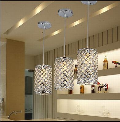 Cristallo moderna Lampada a Sospensione Bar luce DinnerROOM ...