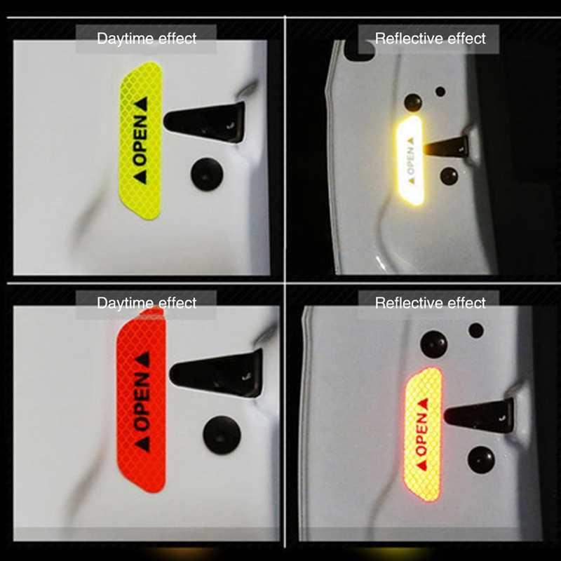 Peringatan Reflektif Tanda Tape Aksesoris Eksterior Mobil Pintu Stiker untuk Alfa Romeo Giulietta Giulia Mito STELVIO 147 156 159 166
