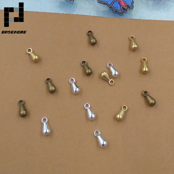 BASEHOME 100pcs/lot 3x6mm End Beads Chain End Connector For DIY Jewelry Accessories 100 m lot 3 color plating high end diy width 4 mm leather handbag aglet fine chain decoration accessories