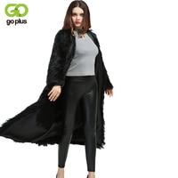 GOPLUS 2019 Winter X Long Women Artificial Fur Coats Faux Fur Windbreaker Plus Size Fur Outerwear Sobretudos Longos Femininos
