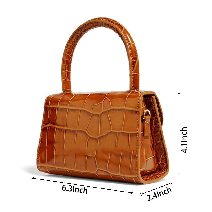 Image 2 - Bolsa Feminina Fashion Alligator Top handle Handbag Designer Women Crossbody Bag Mini Shoulder Messenger Bags for Women 2019 Sac-in Top-Handle Bags from Luggage & Bags