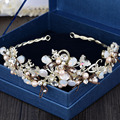 Moda artesanal barroco estilo tiara borboleta capacete de casamento acessórios de cabelo