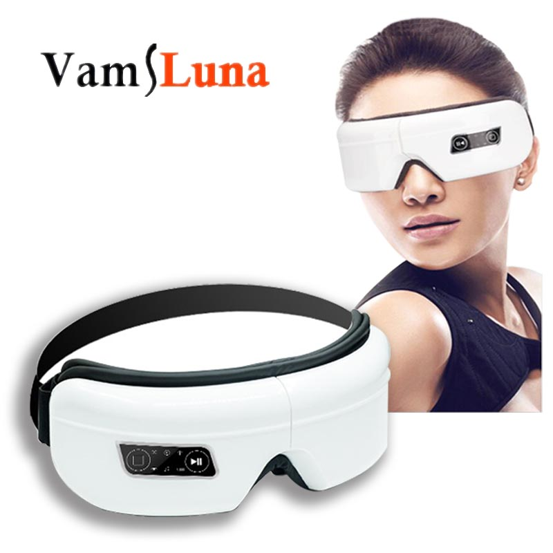 Rechargeable Eye Massager For Eye Massage Heat Function Support Wireless Bluetooth For  MP3