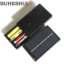 BUHESHUI 1W 4V Solar Panel With Base Solar Cell For 1.2V 2xAA 2XAAA Rechargeable Battery Charging Directly 10pcs/lot