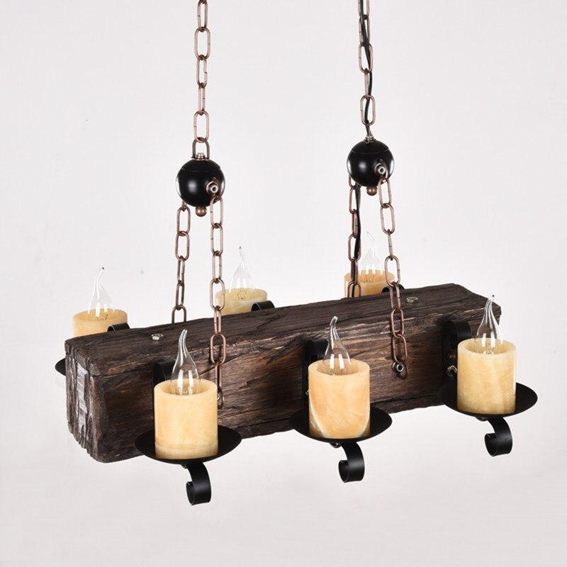 Loft Nordic American Kronleuchter 6/8 Köpfe Retro Vintage Lampe E14 - Innenbeleuchtung - Foto 6
