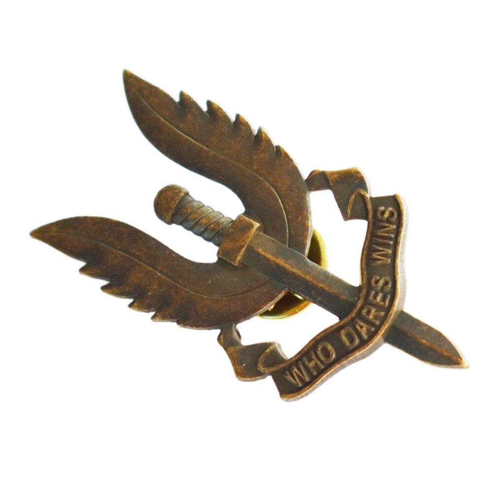 WW2 UK British Special Air Service SAS Who Dares Wins Souvenir Medal Badge