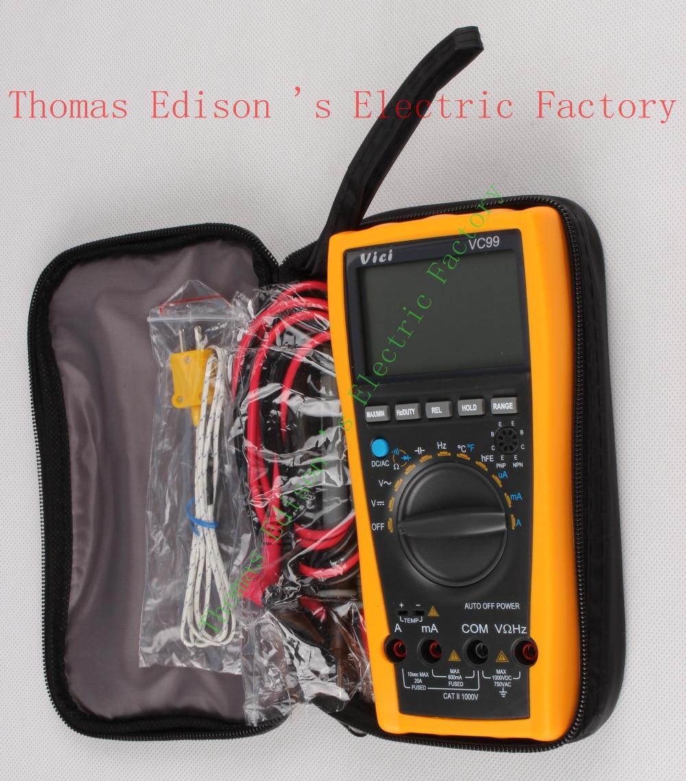 Vichy VC99 3 6/7 Auto range digital multimeter with bag better 17B+  Original  Genuine meter 100% original fluke 15b f15b auto range digital multimeter meter dmm