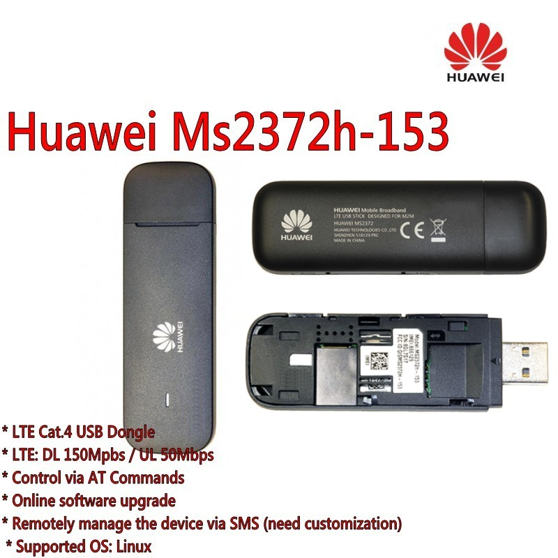 Unlocked Huawei  Ms2372h 153 150M LTE USB Wingle LTE Universal 4G USB WiFi Modem plus antenna-in Network Cards from Computer & Office    3