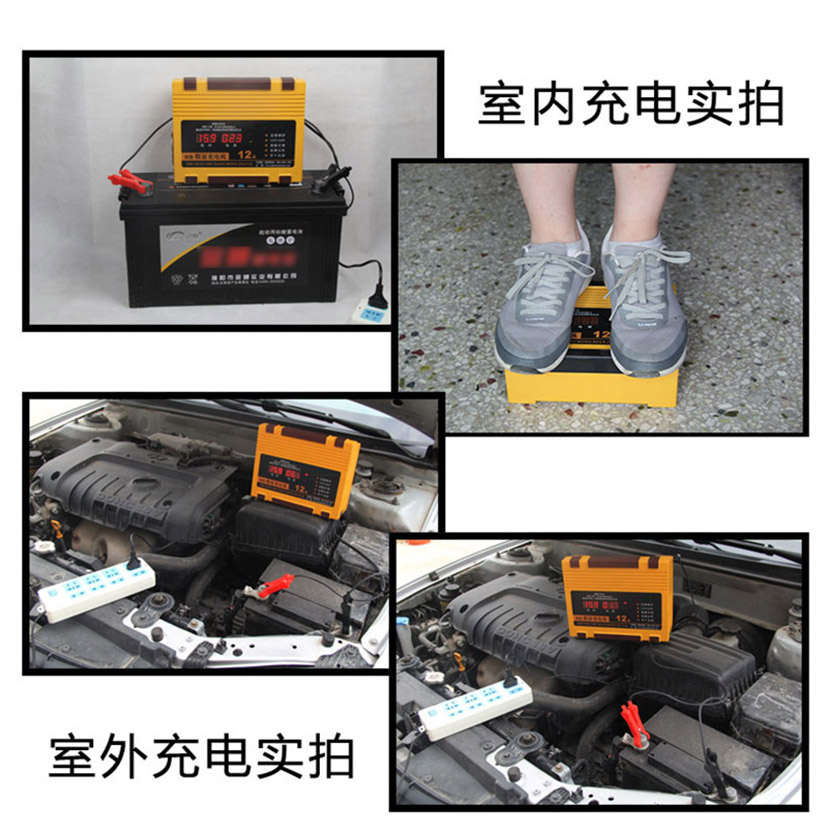 Chargeur de batterie de voiture 12V 24V Portable Type de réparation d'impulsion Intelligent 12A batterie au plomb automatique rapide intelligente charge automatique de puissance - 2