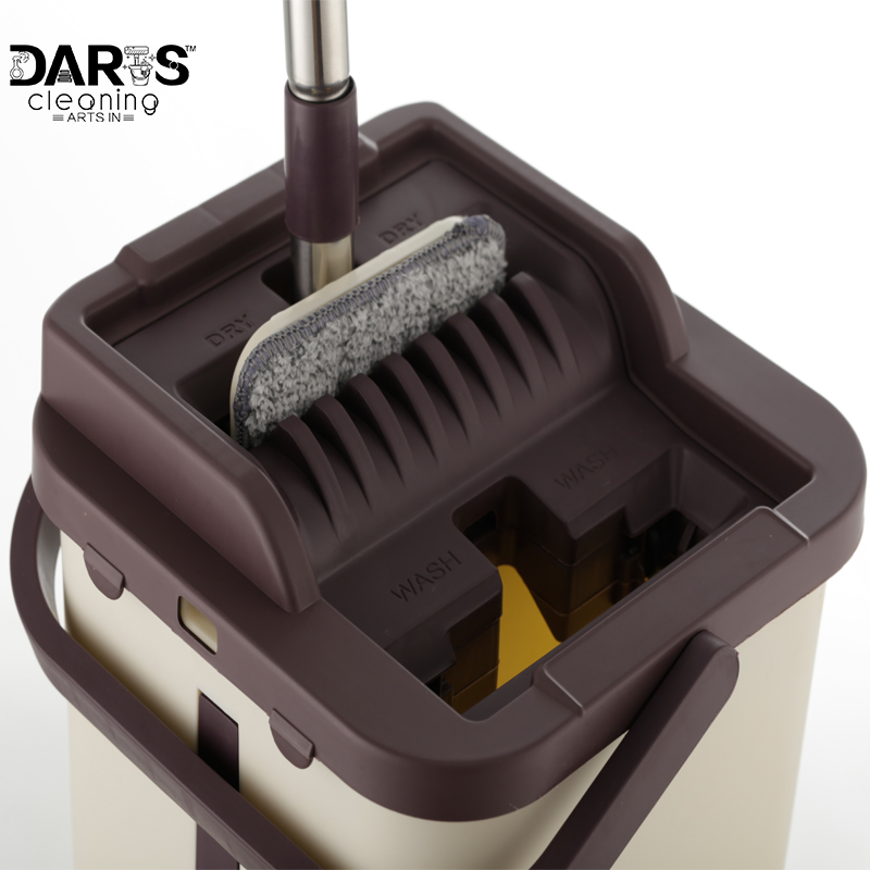Piatto di Compressione In Acciaio Inox Facile Strizzare Mop In Microfibra e Secchio di Sistema per la Pulizia dei Pavimenti con 4 o 10 pezzi Piatto mop Teste