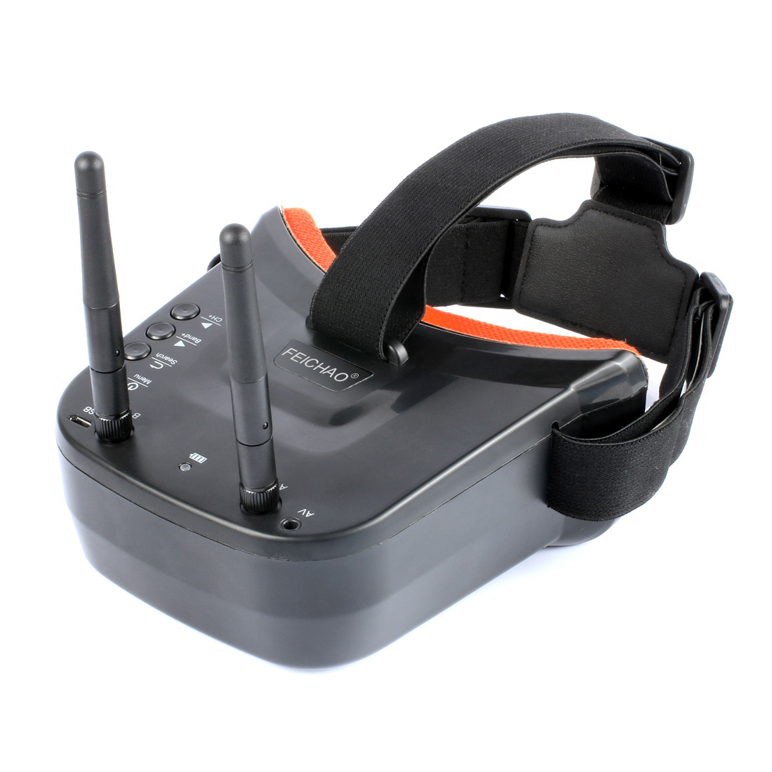 New Mini FPV Goggles 3 inch 480 x 320 Display Double Antenna 5.8G 40CH Built-in 3.7V 1200mAh Battery for Racing Drone Models