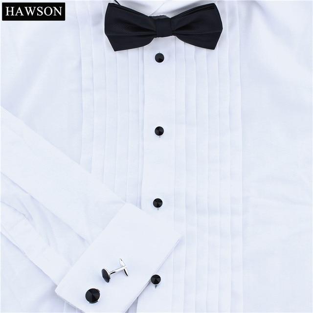 HAWSON Luxury Black Glass Cuff links and Studs Set