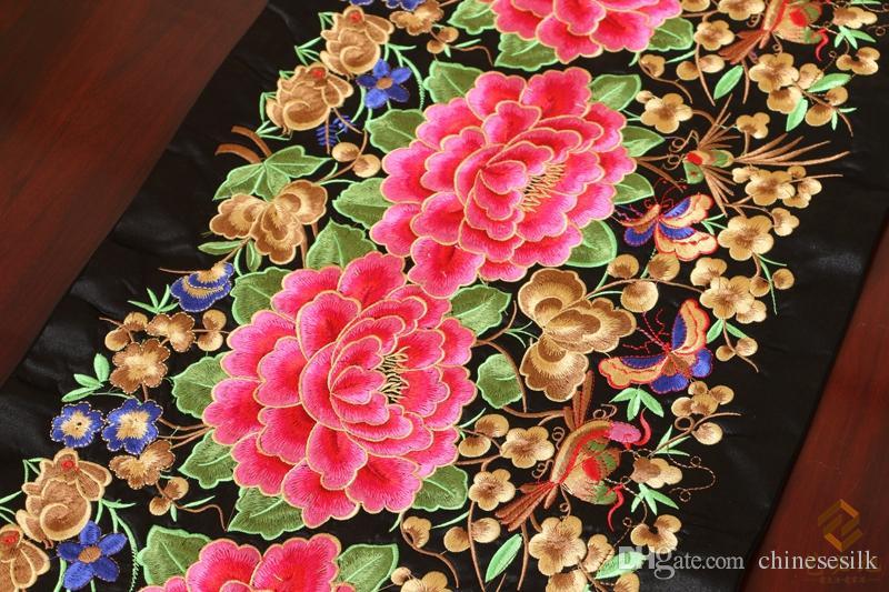 Роскошный тонкий лоскутный с вышивкой обеденный стол бегун китайский стиль шелк класса люкс парча декорация скатерть для стола - 2