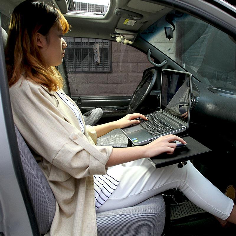 Full Motion 360 Degree Rotation Car Laptop Desk Notebook Holder Car Dining Table Writing Board Tablet PC Table With USB Fan full motion 360 degree rotation car