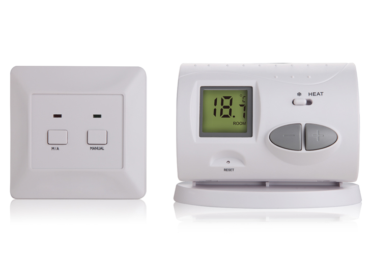 TP03RF wireless (radio-frequency) digital room thermostat for water heating system, Gas boiler heating system english russian operating instructions wifi thermostat gas boiler water heating radiator valve for underfloor warm system
