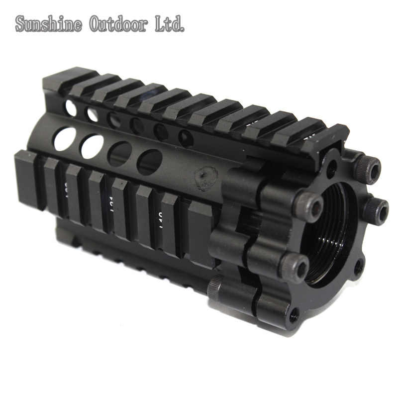 Indoor / melee CQB 4.2 inch Picatinny rail aluminum handguard rail system for AEG M4 / M16 new separable quick installation metal picatinny rail system tactical handguard rail system for aeg m4 free shipping