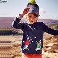 2016 Новая Мода Марка Дети Одежда Милые Мальчики Майка Дизайнер Малыша Мальчиков Одежда Хлопка С Длинным Рукавом Футболки