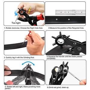Image 2 - TRANVON Leathercraft ניקוב עבור עור חור אגרוף עבור חגורות תפרים Plier מחוררי חריר Piercer כלי מלאכת עור