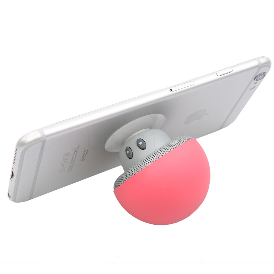 2016 Qute Гриб Мини Беспроводной Bluetooth Динамик присоски чашки аудио приемник музыка стерео сабвуфер USB для IOS телефона Android