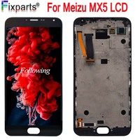 100% Tested For Meizu MX5 LCD Display +Digitizer Touch Screen Glass Replacement Parts Meizu mx5 LCD With Frame Free Shipping