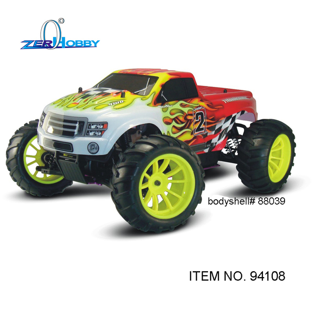 Hsp 1/10 Nitro Gasoline 4Wd Off Road Universal Rtr Monster Truck – Glo Starter Included