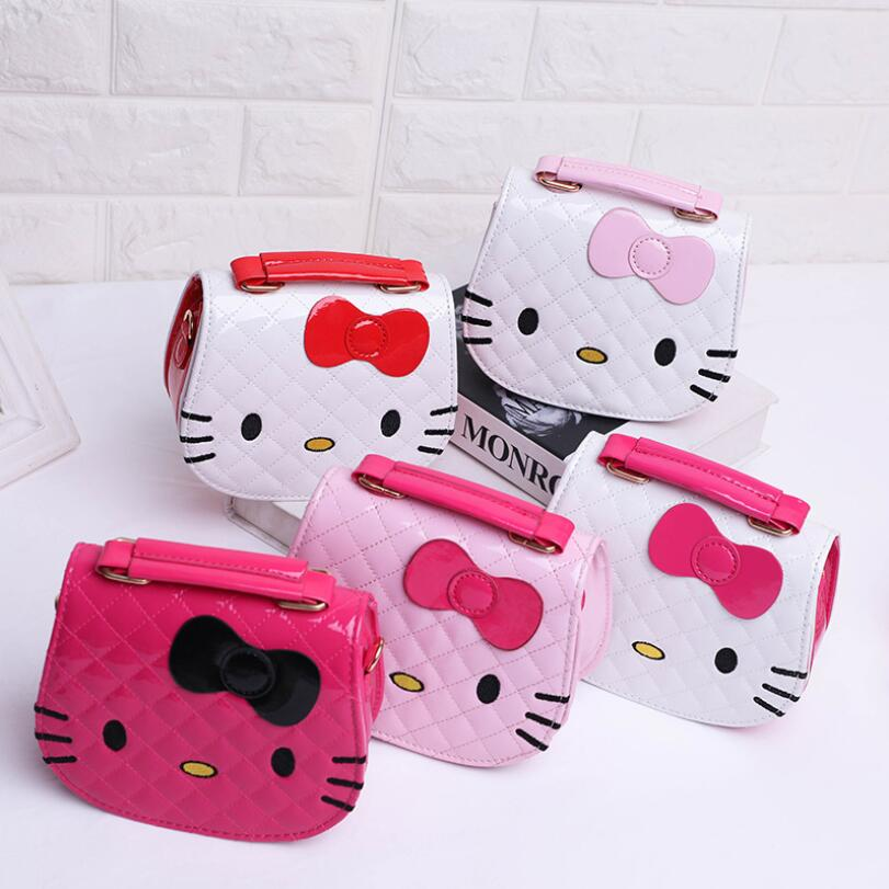 Character Shoulder Bags Cartoon Hello Kitty Shoulder Bag Large Handbags for Girls Women Cat Shape Pink Lady Baby Kids Waterproof cute cat shape and japanese character print design satchel for women