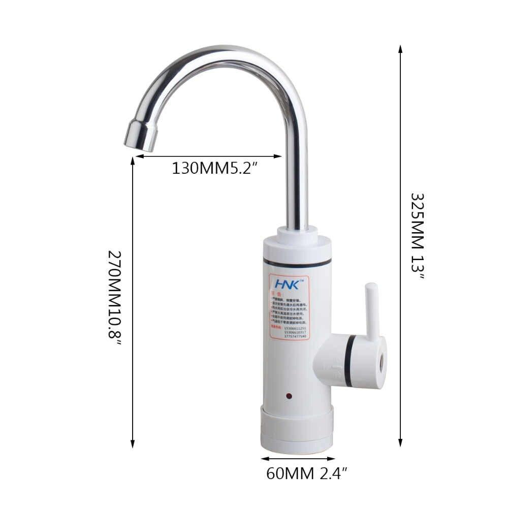 KEMAIDI RU Cổ Tức Tankless Nóng Điện Máy Nước Nóng Vòi Nước Nhà Bếp Sưởi Ấm Ngay Lập Tức Tap Water Heater với LED EU Cắm