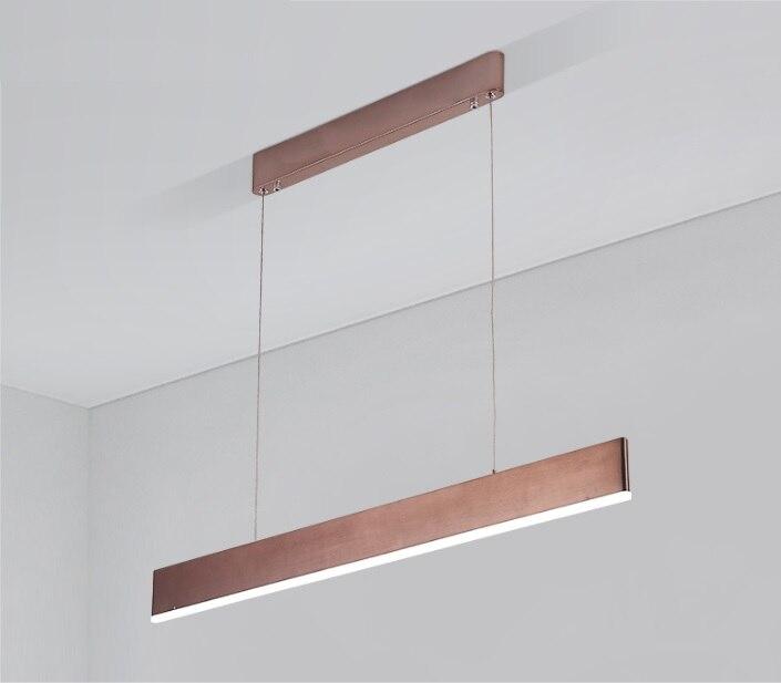 Ультра тонкий мм 20 светодио дный линейный подвесной светодиодный светильник/алюминиевый профиль 2x8 cmH/текстурированная латунь отделка/PMMA д