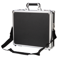tool trolley safety password waterproof storage tool box aluminum metal small suitcase with shoulder belt