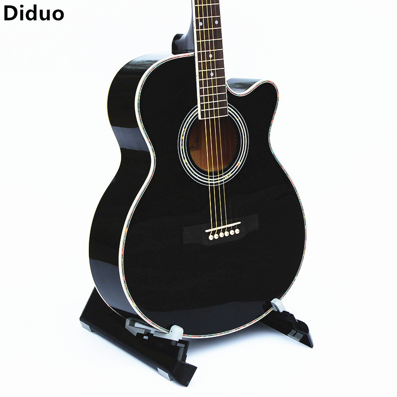 Diduo 40 Inch Acoustic Guitar Folk Basswood Guitar Suitable For All Beginners Learning Musical Instruments Bright Black Guitarra diduo 40 inch 41 acoustic guitar beginner entry student male and female instrument wound guitarra