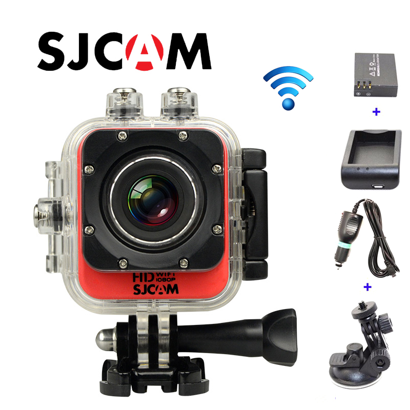 Free Shipping!!Original SJCAM M10 WiFi Mini Sport Action Camera+Extra 1pcs battery+Battery Charger+Car Charger+Holder free shipping original sjcam sj5000 sport action camerar car charger holder monopod extra 1pcs battery battery charge for camera