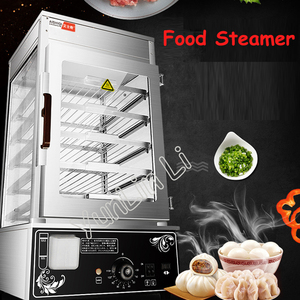 Commercial Electric Steamer Bread Steaming Machine Surrounded Toughened Glass Commerical Bun Bread Steamer Bread Maker ASQ-500