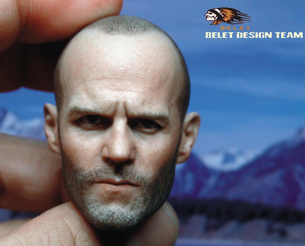 BT012 Head2 0 1 6 Death squads Jason Statham Head Sculpt Headplay Male Head Carving Model For 12 quot Action Figure Toys in Action amp Toy Figures from Toys amp Hobbies