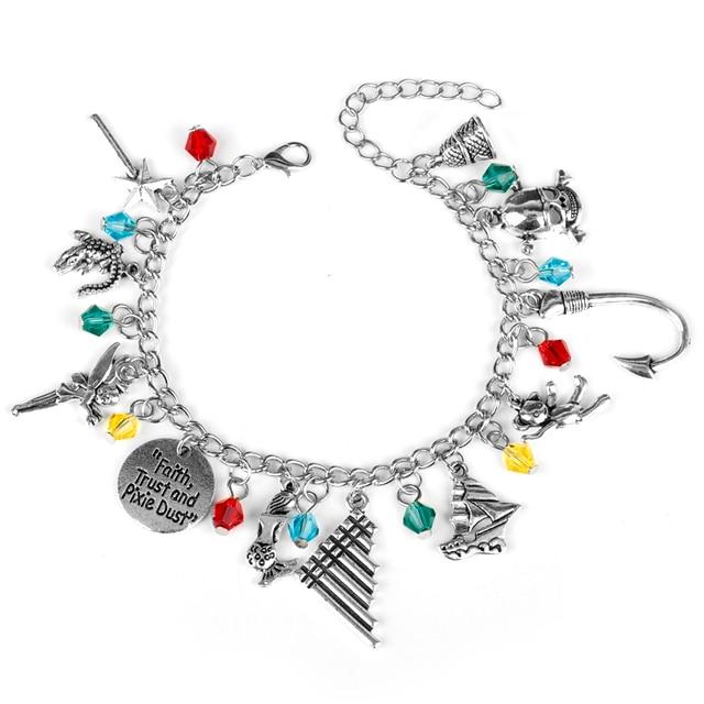 Dongsheng Pirates Of The Caribbean Bracelet Faith Trust Pixie Dust Logo Bangle Wristlets